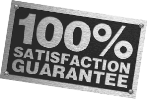 100% Satisfaction guarantee on every service